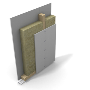 Partition wall, wooden frame 4